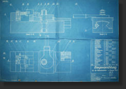 Mauser C96 Production Tool Blue Print. All Rights Reserved.